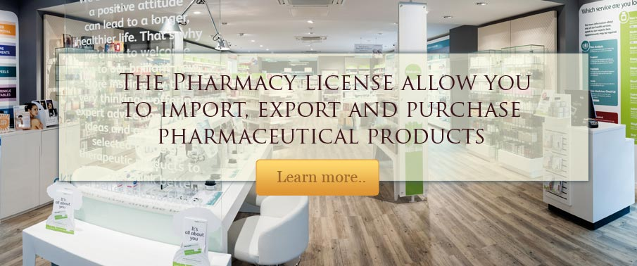Pharmacy license